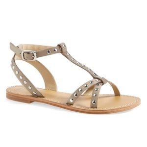 Peek 'Tana' Studded Leather Sandal for Girls